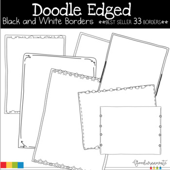 Borders Doodle Edged Black and White Pack