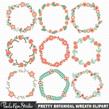 Borders - Floral Wreaths