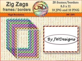 Borders / Frames - zig zags