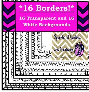 Borders MEGA Pack {Confetti and Creativity Clip Art}