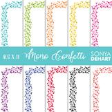 Clip Art: Borders - Monotone Confetti Page and Cover Borders