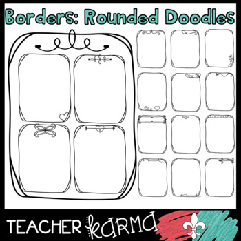 Borders: Rounded Doodles (BIG DISCOUNT TODAY)