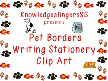 Borders, Stationery, Clip Art: Pets