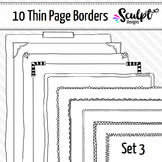 Borders ~ Thin Page Frame Borders ~ Set Three