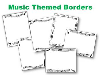 Borders and Frames: Music Themed Black and White