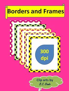 Half Polka Dots Frames with White Background - by B.C.Studio