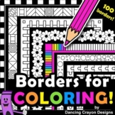 Borders for Coloring \ 100 Black and White Borders and Fra