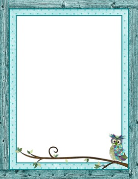 Borders or Frames – Editable – Coordinates with Book Smart