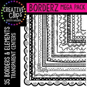 Borders Clipart MEGA Pack {Creative Clips Clipart}