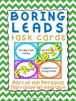 Boring Leads Task Cards - FREEBIE