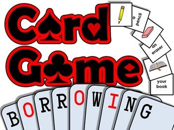 Borrowing PRINTABLE CARD GAME (English Communication Activity)