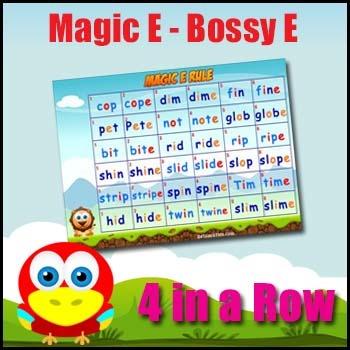 Bossy E Rule - Magic E Rule Phonics Game - Printable + Video Game