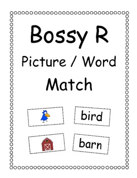 Bossy R Picture/Word Matching Game