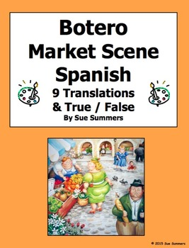 Spanish City - Botero Market Scene Spanish 9 True/False an