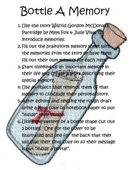 Bottle A Memory Writing using the story Wilfrid Gordon McD