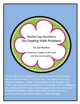 Bottle Cap Math Activities