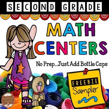 Bottle Cap Math Centers Second Grade: Just Add Bottle Caps