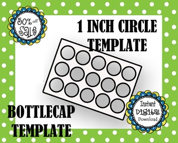 Bottle Cap Template - Make Your Own
