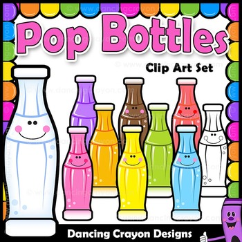 Bottles of Soda Pop Clipart