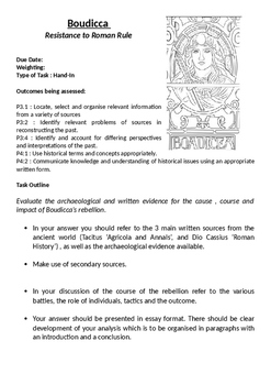 Boudicca Essay Question and Marking Criteria
