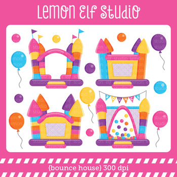 Bounce House-Digital Clipart (LES.CL62B)