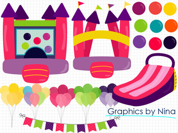 Bouncing Games Clipart (Pink)