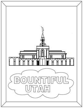 Bountiful Temple-Black and White