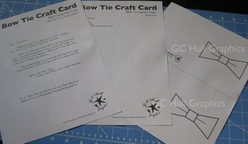 Bow Tie Craft Card Template PDF