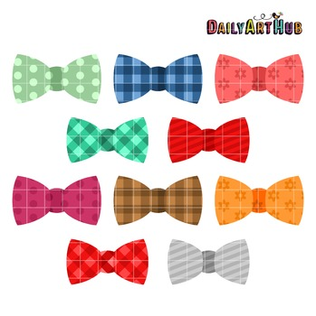 Bow Ties Clip Art - Great for Art Class Projects!