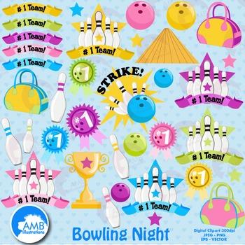 Bowling Clipart  Bowling Ball Night Clipart, Sports Clipar