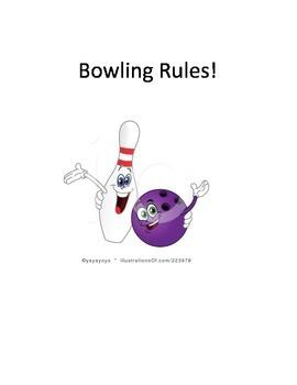 Bowling Rules Social Story