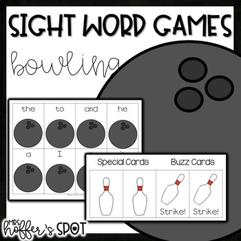 Bowling Sight Word Games