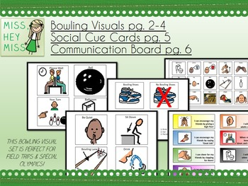Bowling: Visuals, Social Cue Cards & Communication Board