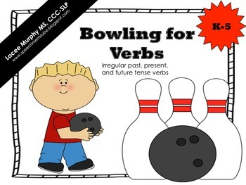 Bowling for Verbs - Irregular past, present, and future te