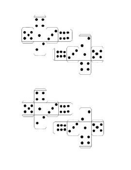 Bowling with Dice (Math Skills) dice pattern