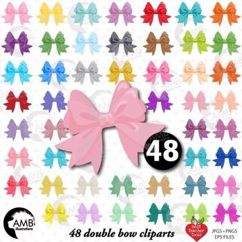 Bows Clipart, Pretty Ribbons and Bows Clipart, AMB-1294