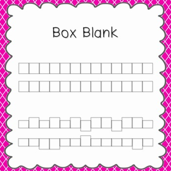 Box Blank Font {personal and commercial use; no license needed}