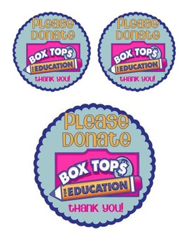 Box Top Sticker