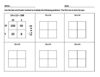 Box and Cluster Multiplication.