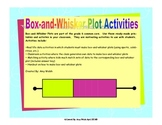 Box and Whisker Plot Activities - Grade 6 Math Statistics