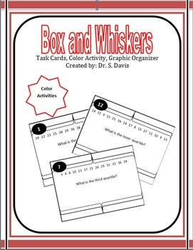 Box and Whisker Plot Task Cards, Color Activity, and OMG