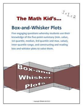 Box-and-Whisker Plot Worksheet