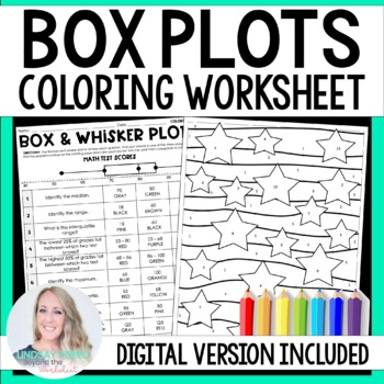 Box and Whisker Plots Coloring Worksheet