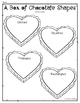 Box of 2D Heart Chocolate Shapes