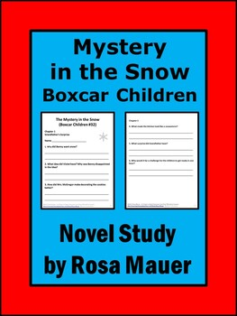 Boxcar Children Mystery in the Snow Literacy Book Unit
