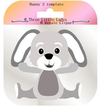 Boy Bunny Template 2