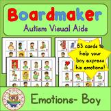 Boy Emotion Feelings Cards - Boardmaker Teen Visual Aids f