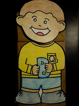 B is for Boy Paper Bag Puppet