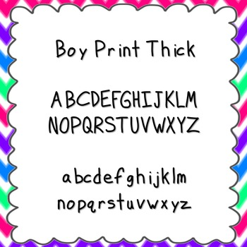 Boy Print Thick Font {personal and commercial use; no lice