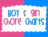 Boy and Girl Chore Charts